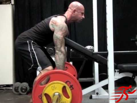 bent over row supported by bench